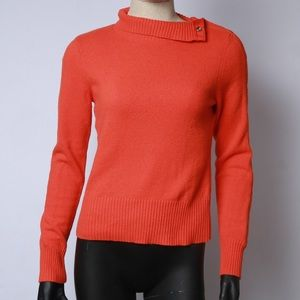 Moth by anthropologie orange snap turtleneck